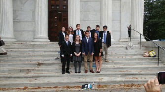 (back row from left to right) Rita Rozental, Lily Fleischer, Ethan Selko, Matthew Rubenstein, Noam Peled, Anthony Lockner. (front row left to right) Ethan Banks, Emma Paige, Jacob Epstein, Lindsey Friedmann