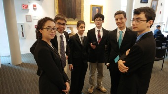 (left to right) Rita Rozental, Matthew Rubinstein, Ethan Banks, Anthony Lockner, Ethan Seiko, Noam Peled