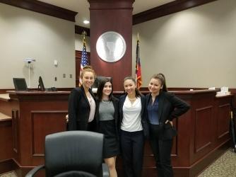 (left to right) Daisy Oberfeld, Emily Dioguardo, Maddie Ballan, Jenifer Fridman