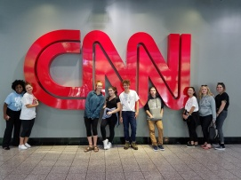 (left to right) Asia Chester, Jenifer Fridman, Daisy Oberfeld, Emily Dioguardo, Andrew West, Zach Hermann, Maddie Ballan, Michelle Gonikman, Sasha Shrubstok