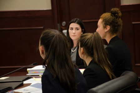 (left to right) Maddie Ballan, Emily Dioguardo (facing camera), Jenifer Fridman, Daisy Oberfeld