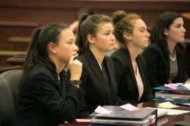 (left to right) Maddie Ballan, Jenifer Fridman, Daisy Oberfeld, Emily Dioguardo