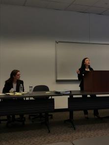 Lexi Taylor, Maddie Ballan (at podium)