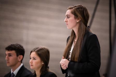 Jacob Epstein, Jenifer Fridman, Lexi Taylor (standing)