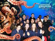 Whole team at Denver Aquarium