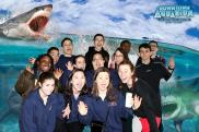 Whole team at Denver Aquarium