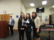 L to R: Lexi Taylor and Maddie Ballan with Quarterfinalists Award