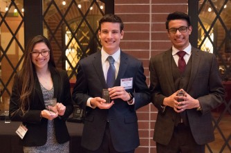 Middle: Ethan Selko with Outstanding Orator Award
